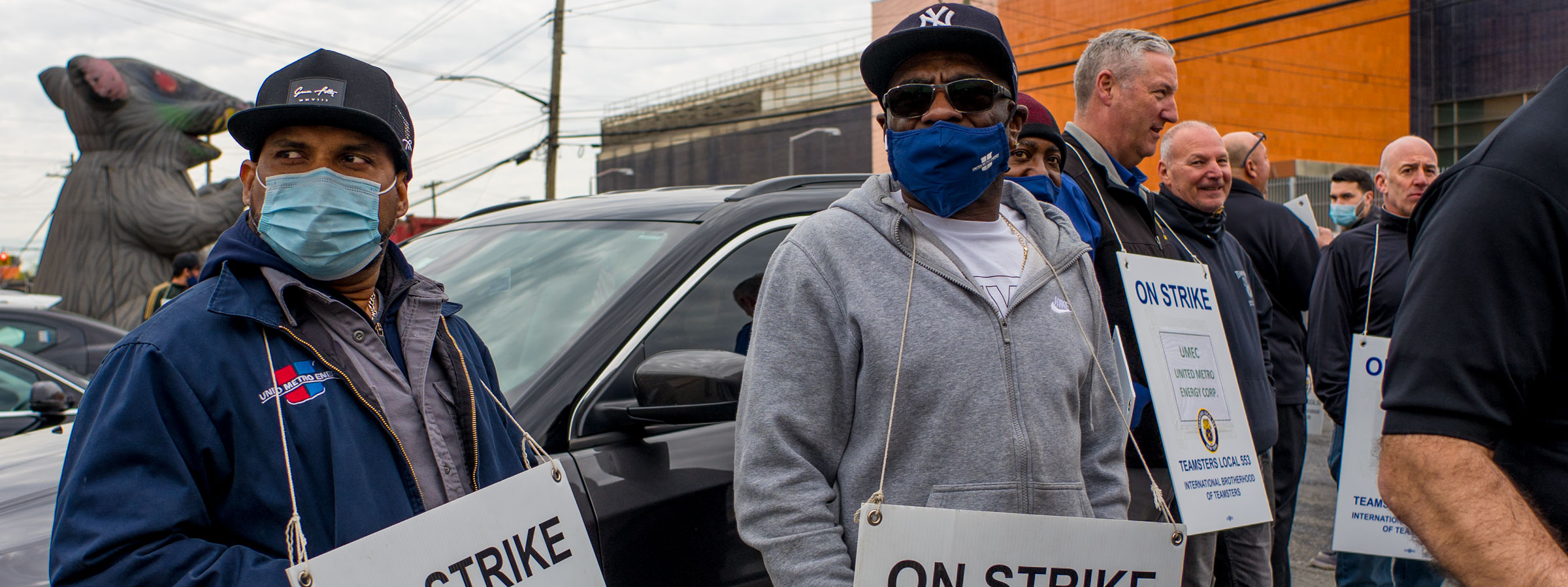 Essential Workers on Strike in Brooklyn