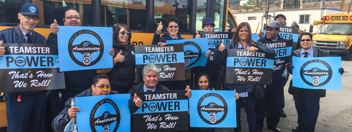 School Bus Teamsters Celebrate 10 Year Campaign