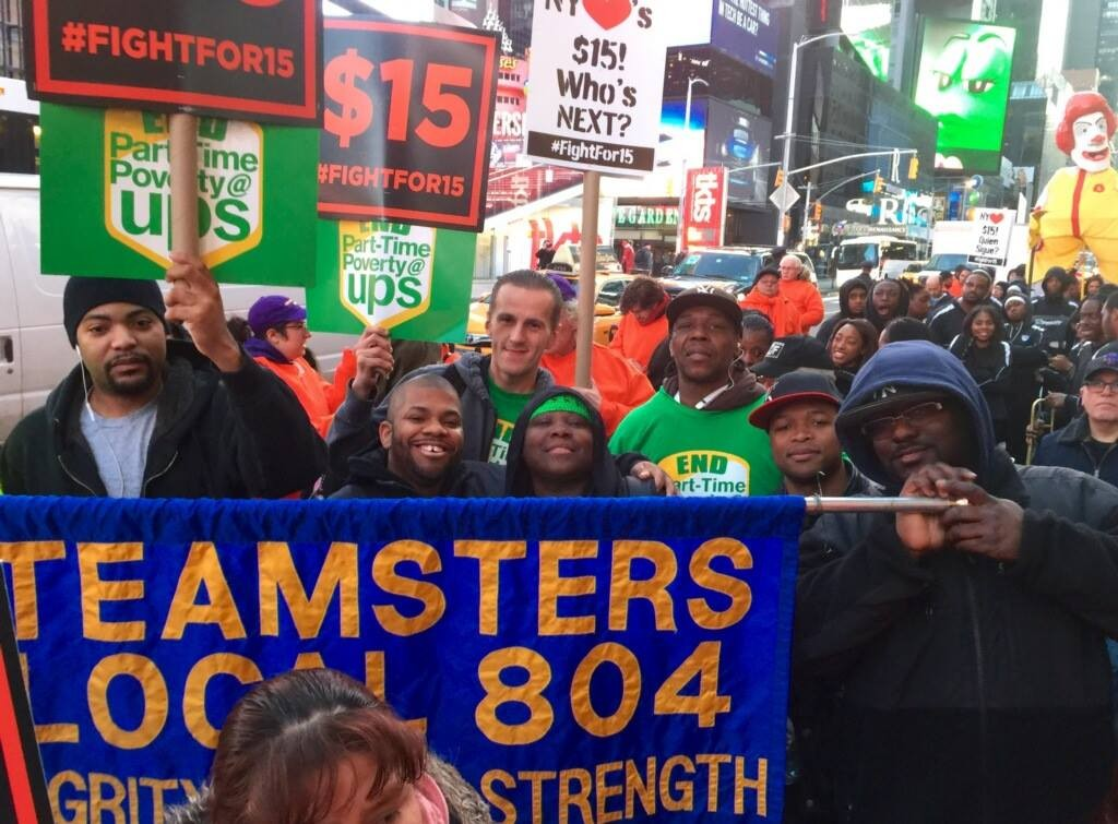 Teamsters Local 804 at Fight for $15