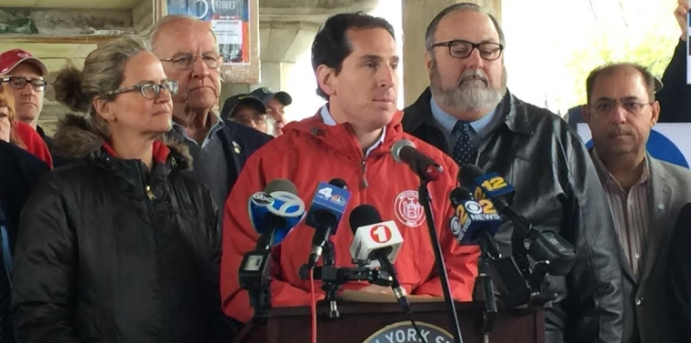 Senator Todd Kaminsky supports Clare Rose workers