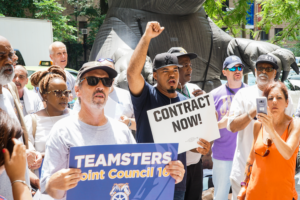 Waldners workers rally at New York Presbyterian