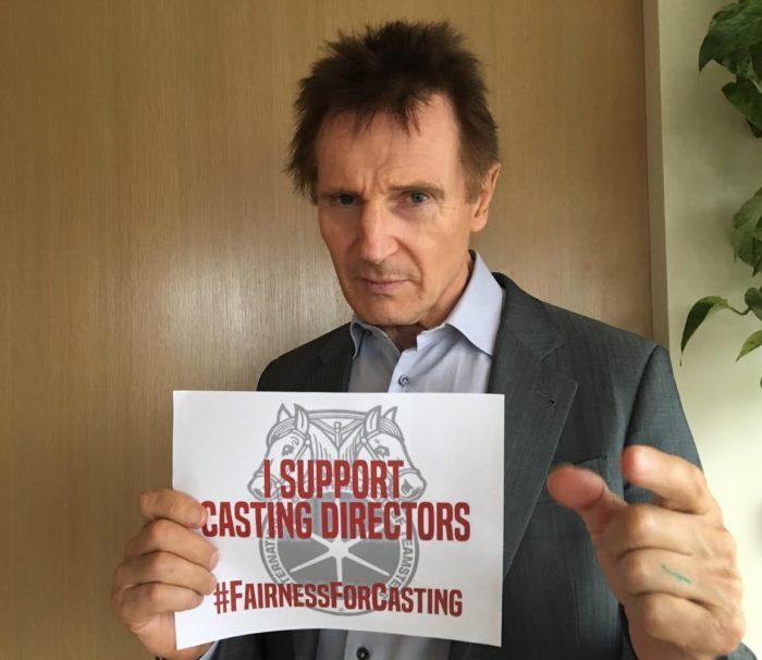 Liam Neeson supports casting directors