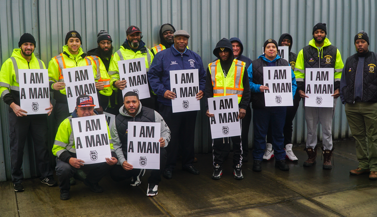 Teamsters members at action carting remember MLK