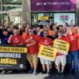 Teamster Sanitation Workers Protest Bill Gates In New York City