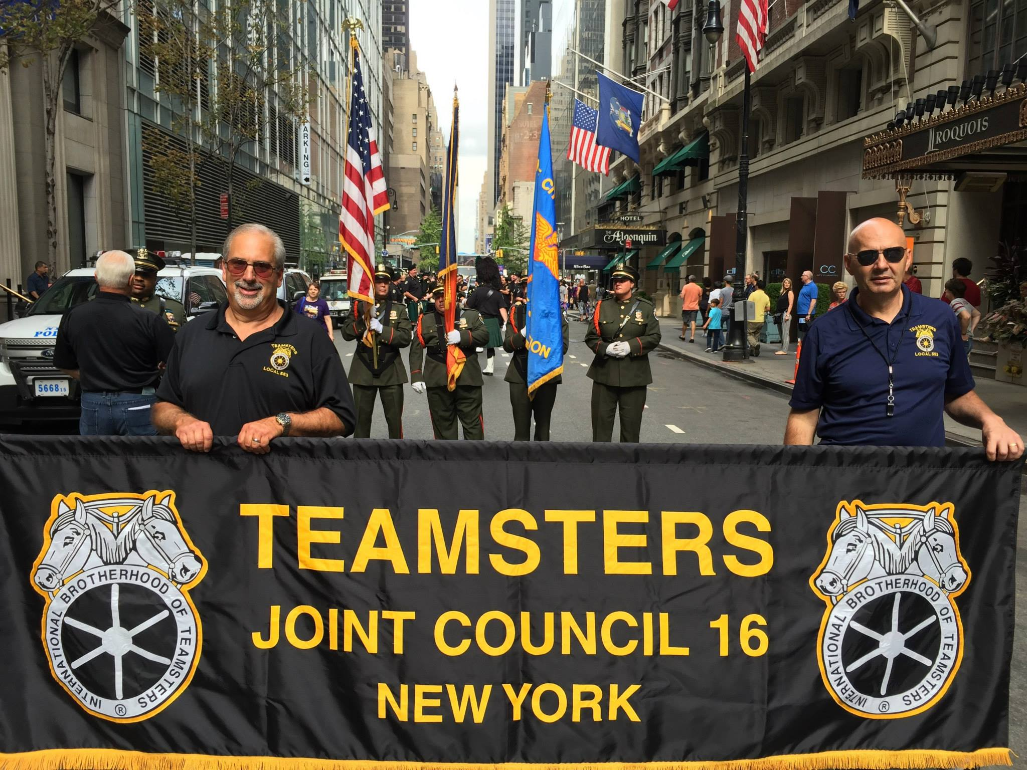 Joint Council 16 labor day banner